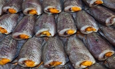 sun dried gourami fish