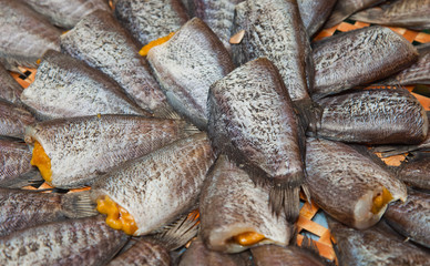 sun dried gourami fish