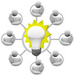 Brainstorming Solution to Problem Envision Light Bulb Idea