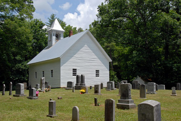historic wooden church cades cove