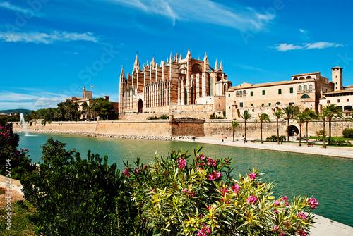 Canvas Oude gebouw Cathedral of Palma de Majorca