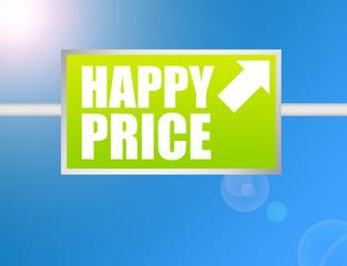 happy price sign