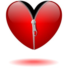 Cuore con Cerniera Lampo-Heart with Zip-Vector