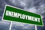 Illustrated unemployment sign