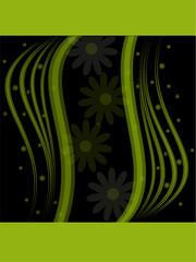banner verde con sfondo nero
