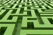 green abstract maze