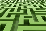 green abstract maze