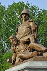 Sowjetischer Militärfriedhof in Warschau (Polen)