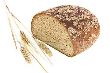 Brot mit Weizenähren