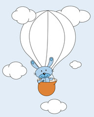Animal volando en globo