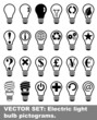 Vector set: Electric light bulb pictograms