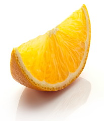 Orange slice on a white background.