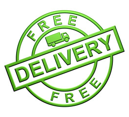 """Free Delivery"" Green Icon"