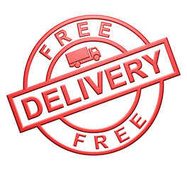 """Free Delivery"" Red Icon"