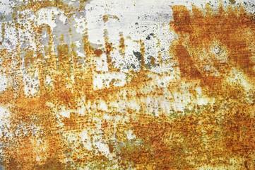 rusting metal and peeling paintwork grunge background