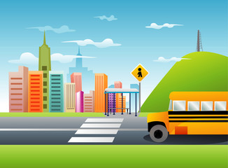 school bus vector illustration © chispas