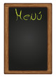 Vector written Blackboard Menu
