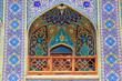 Tiled balcony, ,Seyed Alaedin Hossein Shrine, Iran