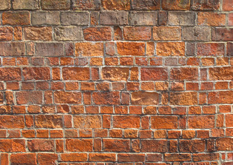 Red brickwork as a grunge wallpaper wallpaper