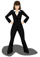 разъяренная самоуверенная бизнесвумен