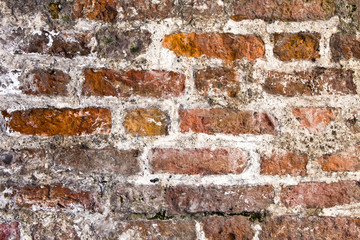 Weatherbeaten brick background