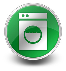"Green Glossy Icon ""Laundromat"""