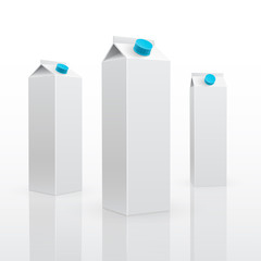 Blank milk or juice pack