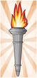 torch with flames