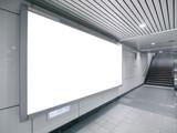 Fototapety Blank billboard in underground passage