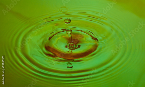 Coloured Water Drop Splashing