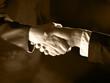 Handshake Handshaking and light, sepia