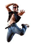 Fototapety springender lebenfsfroher Mann