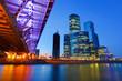 Fototapete Blau - Brücke - Stadt allgemein