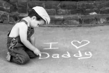 Daddy's sidewalk chalker