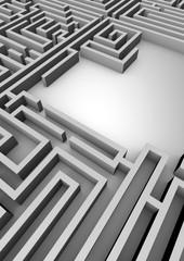 Grey maze maze with copy space