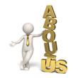 About us - Gold - 3d business man