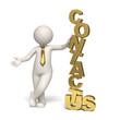 Contact us - gold - 3d business man