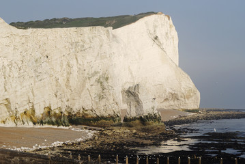 White Cliffs at Seaford. East Sussex. England
