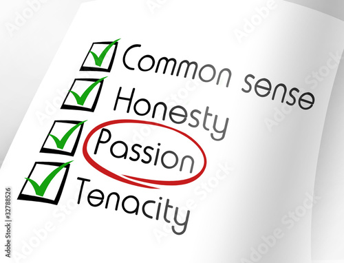Passion Characteristics good enterprising achieve dreams