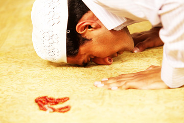 muslim religion praying.
