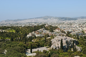 View of The Areipagus from Arcopolis