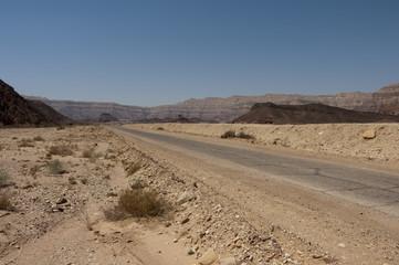 Stone desert road
