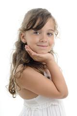 smiling girl portrait in studio
