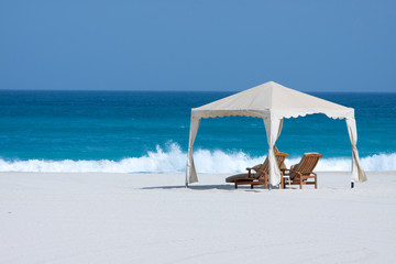 gazebo su spiaggia