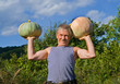 Man with pumpkins 10