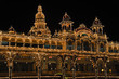 The Mysore Palace at night