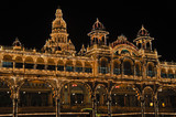 The Mysore Palace at night