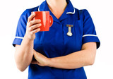 nurse on coffee break