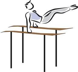 gimnasia barras paralelas