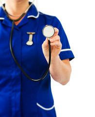 nurse with stethoscope